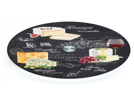 Obrotowa deska szklana World of cheese