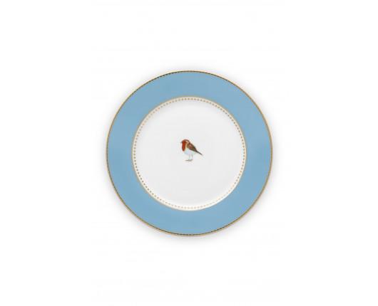 Talerz deserowy Love Birds Blue 17 cm