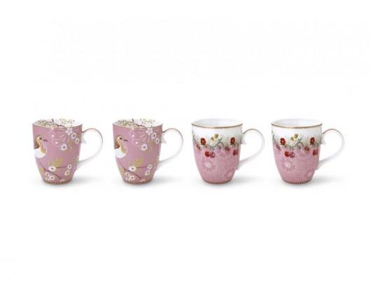 kubki porcelanowe różowe PiP Studio