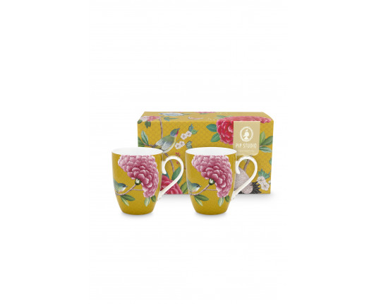Kubek porcelanowy Blushing Birds Yellow PiP Studio