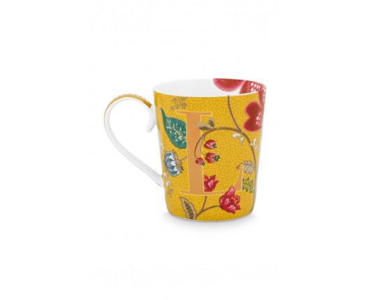 """Kubek porcelanowy Floral Fantasy Yellow """"L"""""""