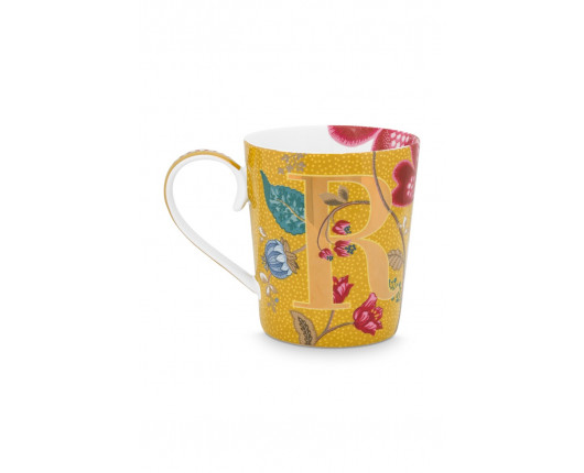 "Kubek porcelanowy Floral Fantasy Yellow ""R"""
