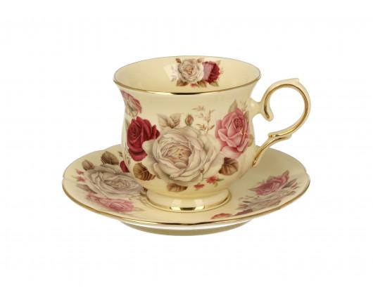 Filiżanka porcelanowa w róże na prezent