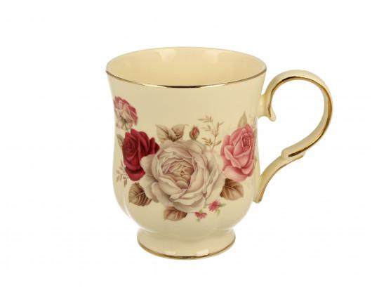 Kubek porcelanowy w róże