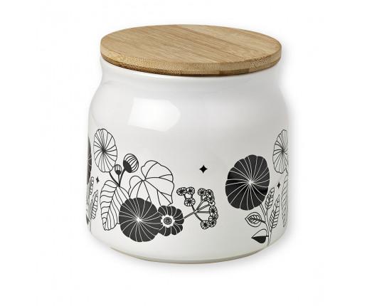 Pojemnik porcelanowy w kwiatki