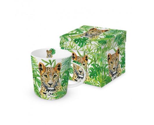 Kubek porcelanowy Leopard