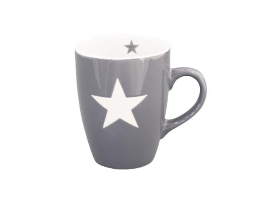 Kubek ceramiczny Star z gwiazdką ciemnoszary