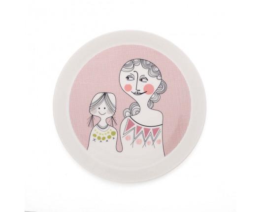 Talerz Pink Girls Familjen