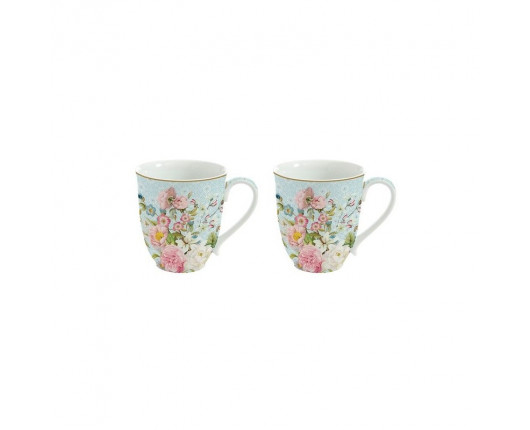 Kubki porcelanowe w kwiaty