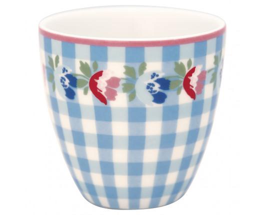 Kubek mini latte Viola Check Pale Blue