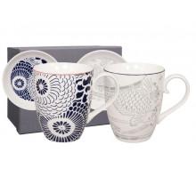 Kubki porcelanowe Shiki Dark Blue&Gray 2 szt.