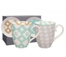 Kubki porcelanowe Kasuri Gray&Mint 2 sztuki