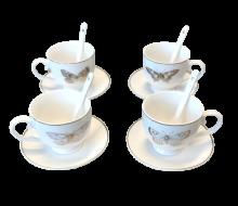 4 Filiżanki do espresso Butterfly Gold w ozdobnym opakowaniu