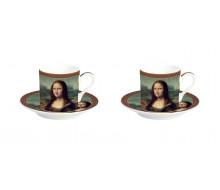 Zestaw filiżanek do espresso Mona Lisa Easy Life, 2 szt.