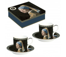Zestaw filiżanek do espresso Dziewczyna z perłą Easy Life, 2 szt.
