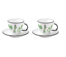 Zestaw filiżanek do espresso Herbarium Easy Life, 2 szt.