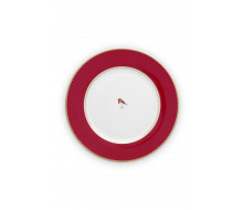 Talerz obiadowy Love Birds Red 26,5 cm