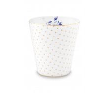Kubek porcelanowy Royal Stripes Dots White