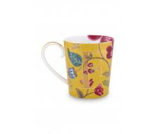 "Kubek Floral Fantasy Yellow ""F"" PiP Studio, 350 ml"
