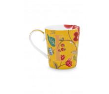 "Kubek Floral Fantasy Yellow ""L"" PiP Studio, 350 ml"