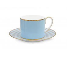Filiżanka do espresso Love Birds Blue PiP Studio, 125 ml