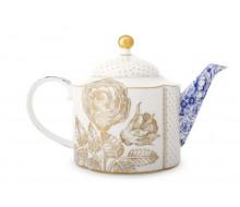 Dzbanek do herbaty Royal White