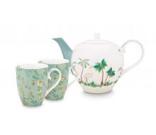 Zestaw do herbaty Jolie Flowers Blue PiP Studio,1600 ml