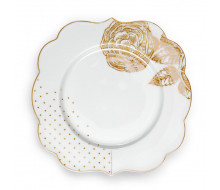 Talerz deserowy Royal White PiP Studio, 17 cm