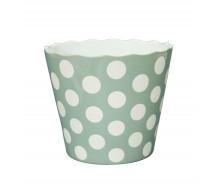 Miska ceramiczna w kropy szara L