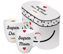 Zestaw kubków Super Mom & Dad PPD, 2 szt.
