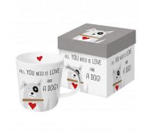 Kubek Love and Dog w ozdobnym opakowaniu