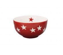 Miseczka ceramiczna Star w gwiazdki czerwona