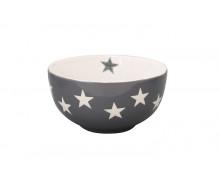 Miseczka ceramiczna Star w gwiazdki ciemnoszara