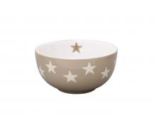 Miseczka ceramiczna Star w gwiazdki jasnobrązowa