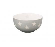 Miseczka ceramiczna Star w gwiazdki jasnoszara
