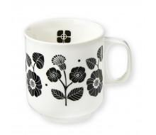 Kubek porcelanowy Black Flowers