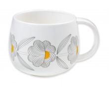 Kubek porcelanowy Grey Flowers
