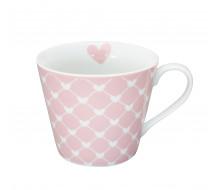 Kubek Diagonal Hearts Pink