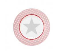 Talerz deserowy Big Star różowy
