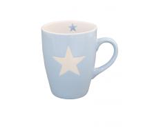 Kubek ceramiczny Star z gwiazdką błękitny