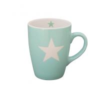 Kubek ceramiczny Star z gwiazdką miętowy