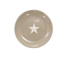 Talerz deserowy Star z gwiazdką jasnobrązowy