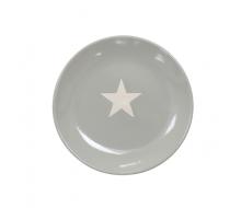 Talerz deserowy Star z gwiazdką szary