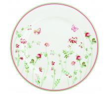 Talerz obiadowy w kwiaty Camille White