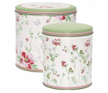 Puszki kuchenne w kwiaty Camille White 2 szt.