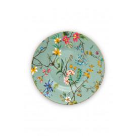 Talerz deserowy Jolie Flowers Blue 12 cm