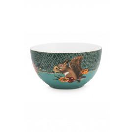 Miska Winter Wonderland Squirrel Green PiP Studio, 18 cm