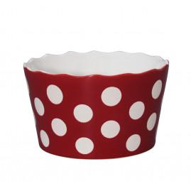 Miska ceramiczna w groszki