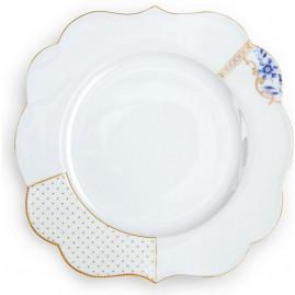 Talerz obiadowy Royal White 28 cm