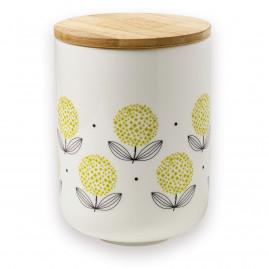 Pojemnik porcelanowy Yellow Flowers